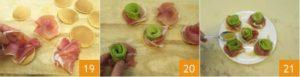 Розы из авокадо с ветчиной на блинчиках