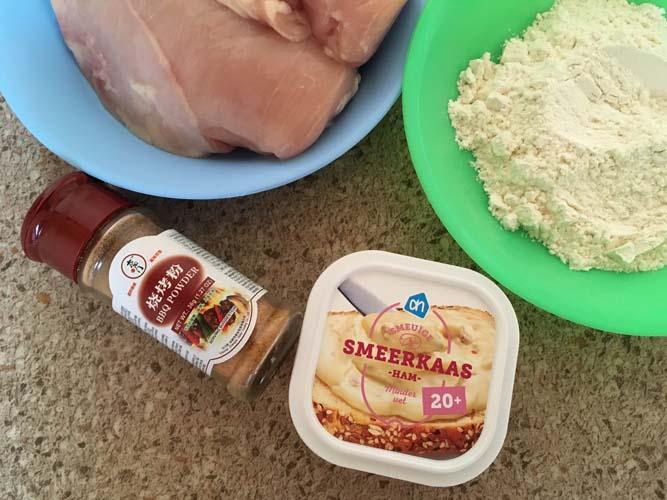 Куриное филе с плавленым сыром и острым перцем